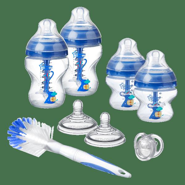 Advanced Anti-Colic Newborn Starter Kit, blue