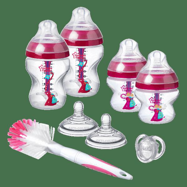 Advanced Anti-Colic Newborn Starter Kit, pink