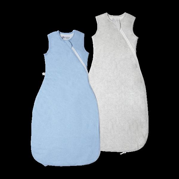 The Original Grobag Blue & Grey Marl Sleepbag Twin Pack 6-18/18-36m