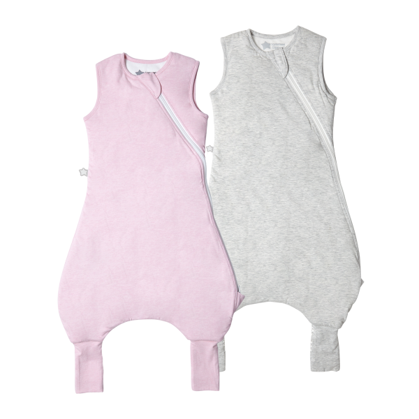 The Original Grobag Pink & Grey Marl Steppee Twin Pack 6-18/18-36m