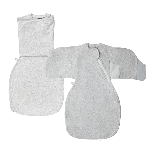 The Original Grobag Grey Marl Swaddle Wrap Twin Pack 0-3m