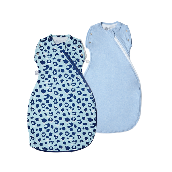 The Original Grobag Abstract Animal/Blue Marl Snuggle Bundle 0-4/3-9m
