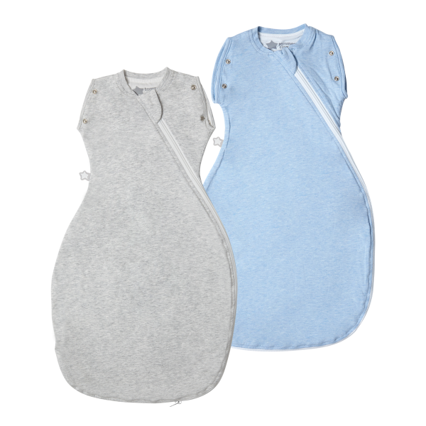 The Original Grobag Blue Marl Snuggle Twin Pack 0-4/3-9m