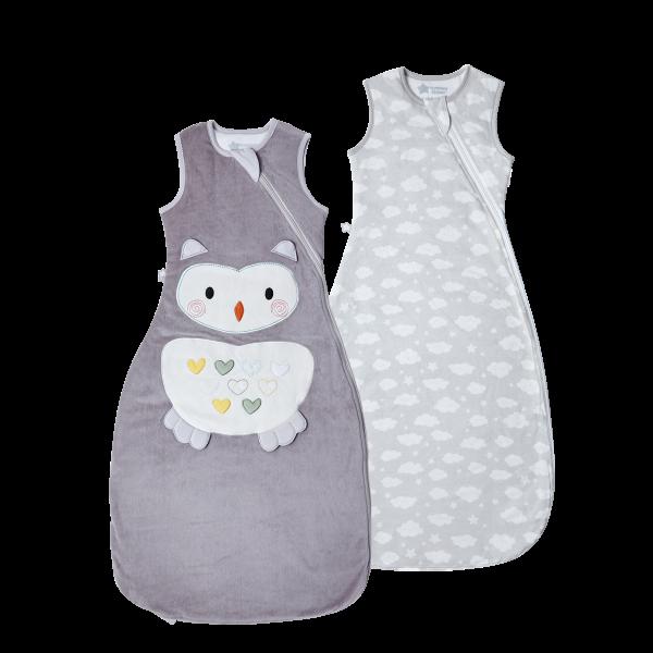 The Original Grobag Ollie the Owl Sleepbag Twin Pack 6-18/18-36m