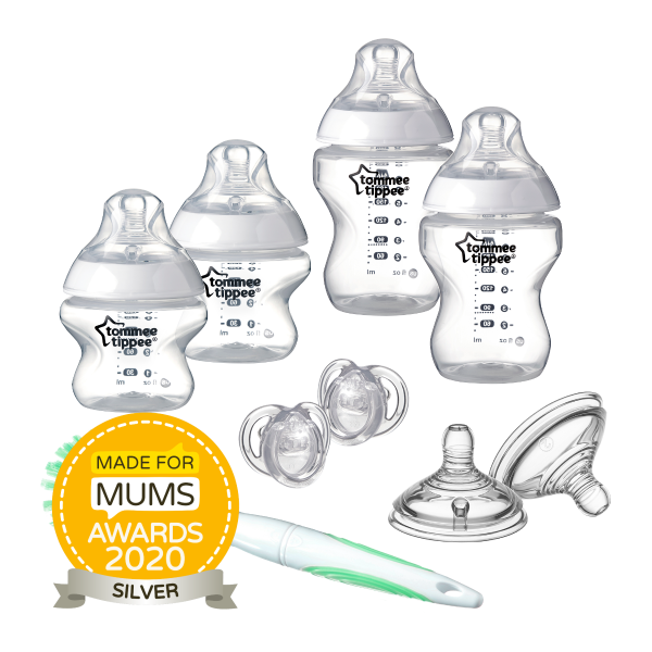 Closer to Nature Clear Baby Bottle Starter Set
