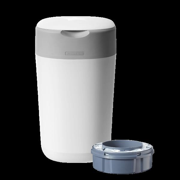 Twist & Click Nappy Disposal Bin, white