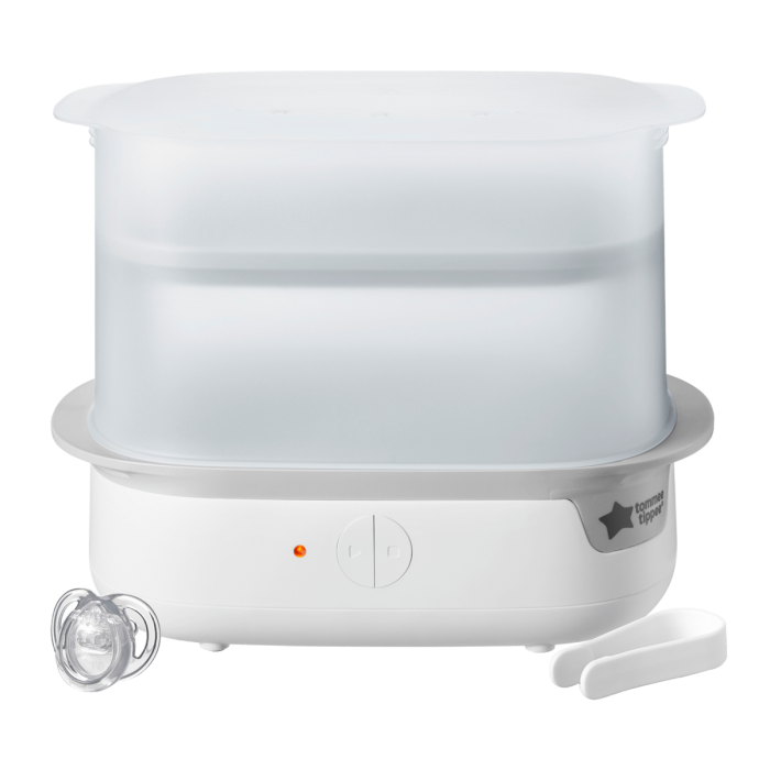 White-Super-steam Advanced Electric Steriliser-with-soother-and-utensil